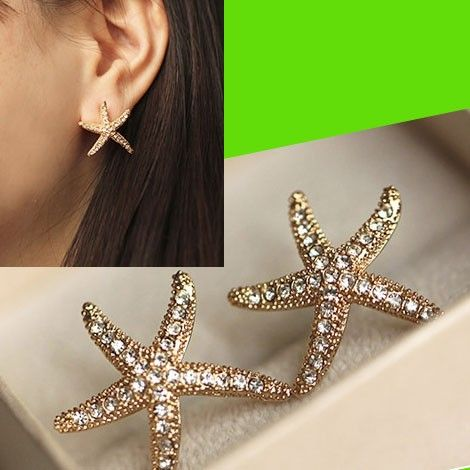 Sparkly Starfish Statement Earrigns | LilyFair Jewelry, $18.99!