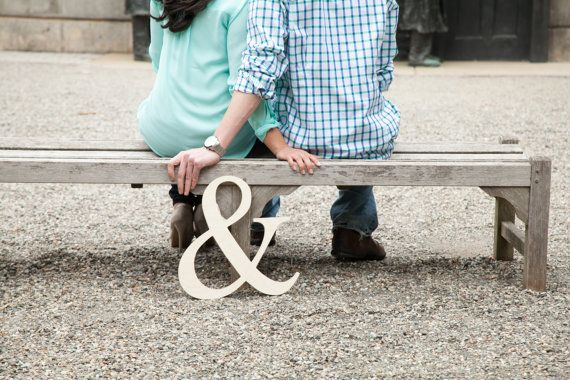 Ampersand Photo Prop Wooden Wedding Sign for by WeddingCraftShop, $14.00