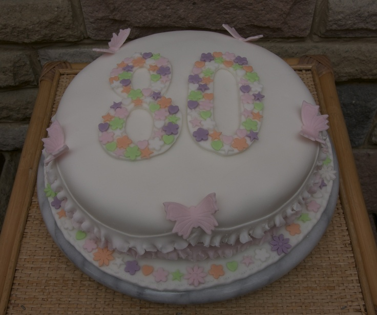 Cake Decorating 80th Birthday Ideas : 80th birthday cake Nice! Pinterest