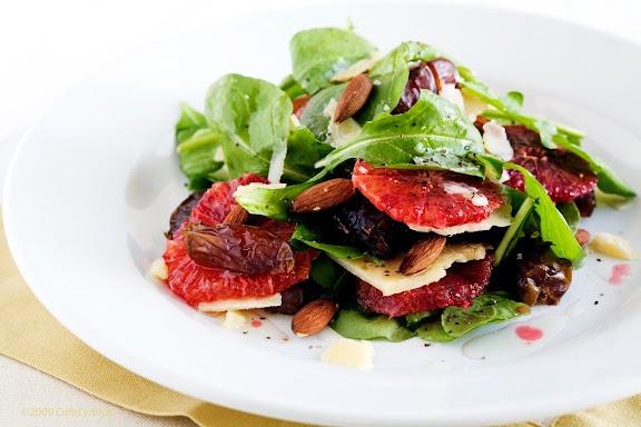 Blood Orange, Date, Parmesan and Almond Winter Salad