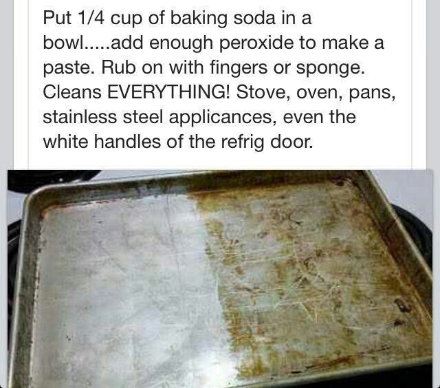 how to clean pans with baking soda