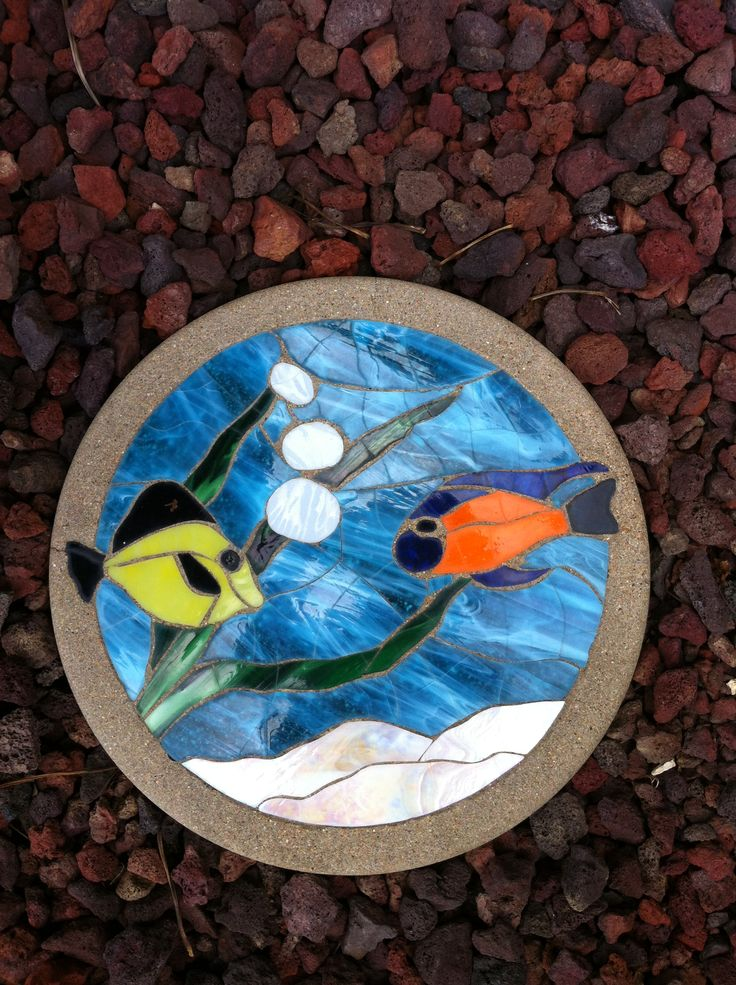 Fish Stained Glass Stepping Stone Stepping Stones