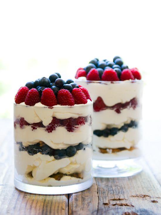 Berries'n'Cream Chocolate Chip Trifle | Yummy | Pinterest