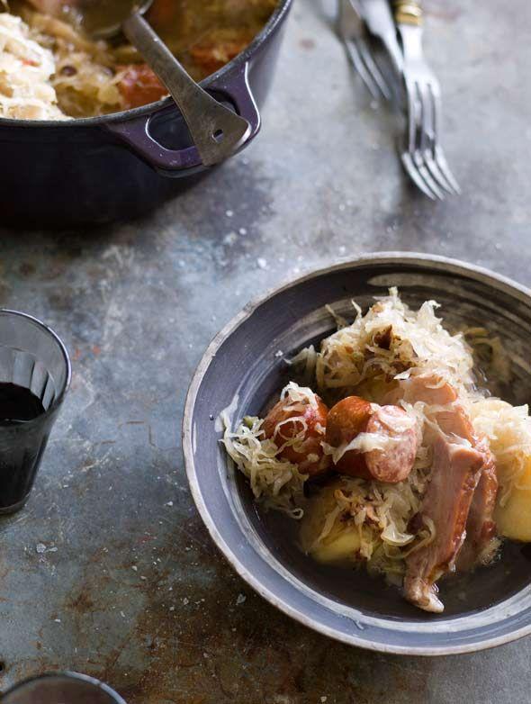 Choucroute Garnie Recipe - Leite's Culinaria. One of my favorite ...