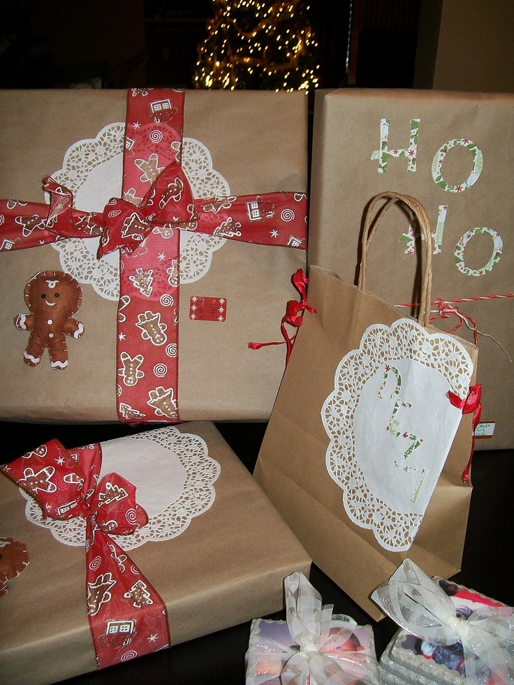 Pinterest inspired Christmas gift wrap. | Wrap It, Tag It! | Pinterest
