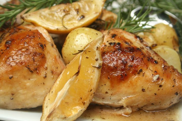 Lemon and Rosemary Roast Chicken | food | Pinterest