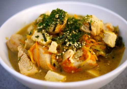 Quick and easy Chicken MIso Soup with Rice