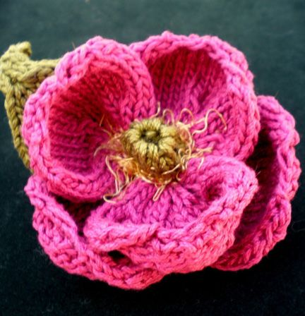 Knitting Pattern For Poppy Flowers : Pin by Dioseira Chirinos de Venutolo on Tejidos,ganchillo,labores man?