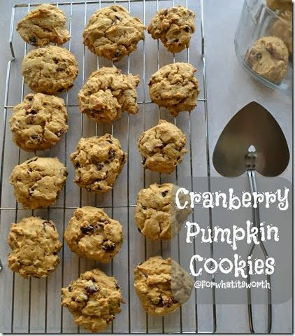 Cranberry Pumpkin Cookies | Recipes to try | Pinterest