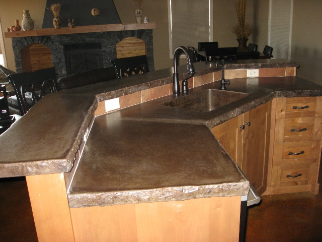 Concrete countertops for the home pinterest for Concrete kitchen countertop ideas