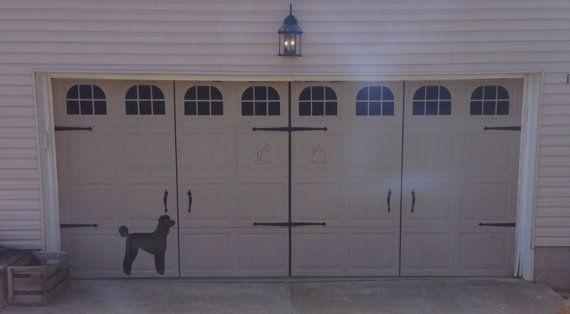 Carriage House Single Decorative Garage Door Decal Set