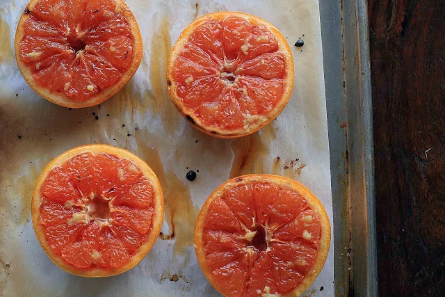 Broiled Grapefruit with Ginger and Brown Sugar | Girl Cooks World