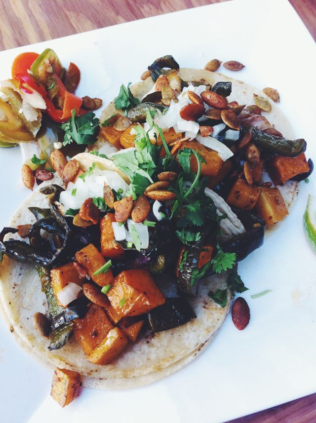 veggie tacos. | Eating Well | Pinterest