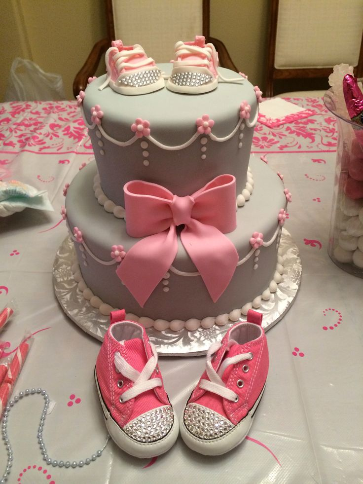 baby shower cake gray and pink converse match the converse on the