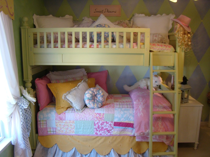 Cottage Style Bunk Beds For Little Girls Kids Rooms