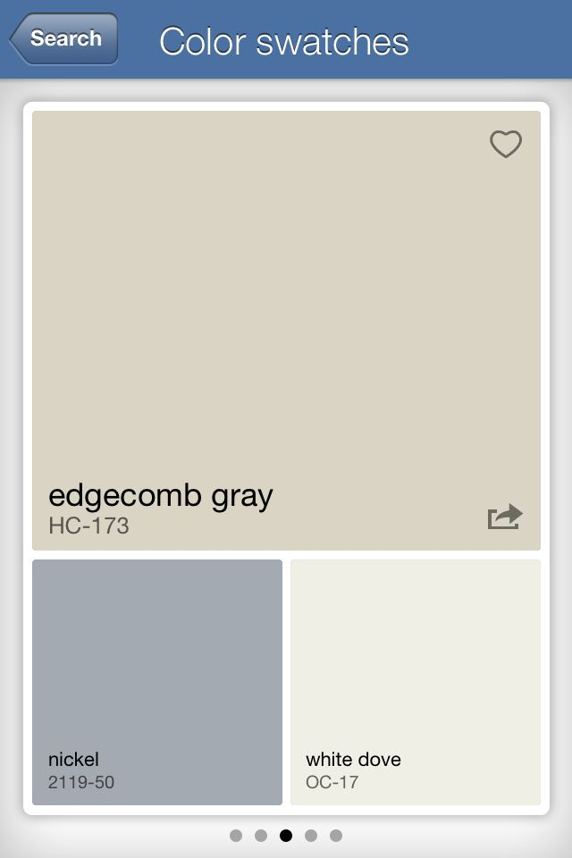 Edgecomb gray common areas colors pinterest - Colors that complement gray ...
