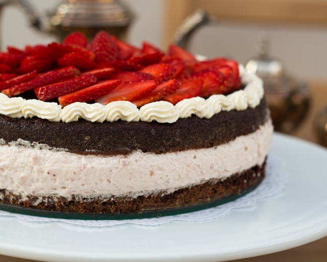 Strawberry Mousse Cake Recipe — Dishmaps