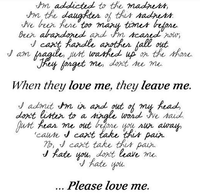 you leave me lyrics: