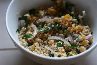 ... Recipe Box: Bulgur Salad with Chickpeas, Roasted Peppers, and Feta