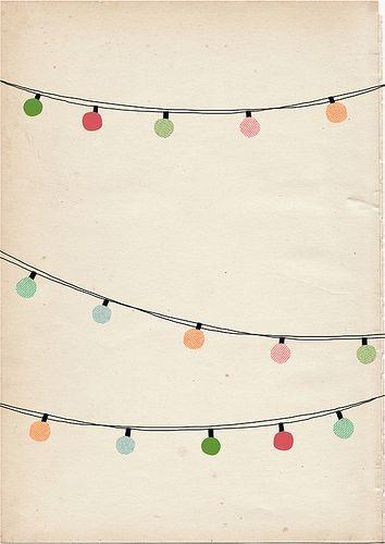 String Of Lights Illustration : pastels