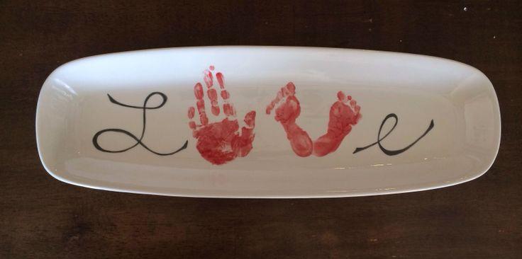 Pin by kristy bowen on pto ideas pinterest for Handprint ceramic plate ideas