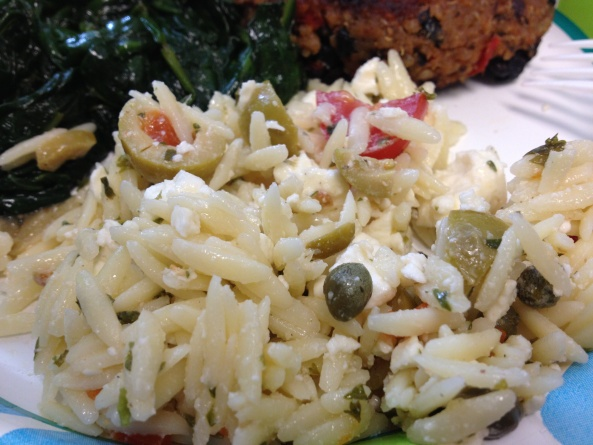 Mediterranean Orzo Salad: Olives, Capers, Tomatoes & Feta w/ a Lemon ...