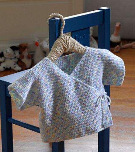 Crochet Baby Robe Pattern : Ravelry: Baby Kimono pattern by Lion Brand Yarn Crochet ...