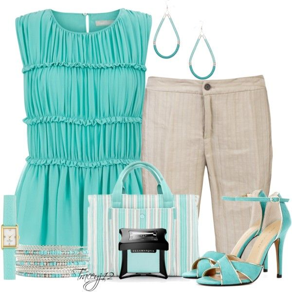 Aqua, created by traceyj12 on Polyvore