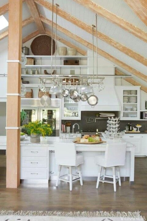 Pinterest discover and save creative ideas for Vaulted ceiling kitchen designs