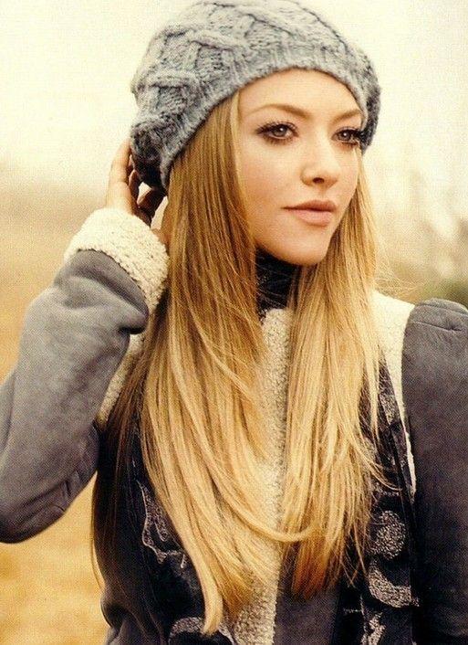 Amanda Seyfried - long sleek blonde ombre hair - http://hairstylesweekly.com/long-smooth-blonde-ombre-hair-cute-long-ombre-hairstyle-for-girls