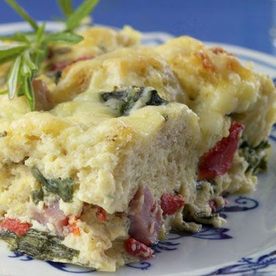 Ham and Cheese Breakfast Casserole from Delish.com #protein #dairy # ...