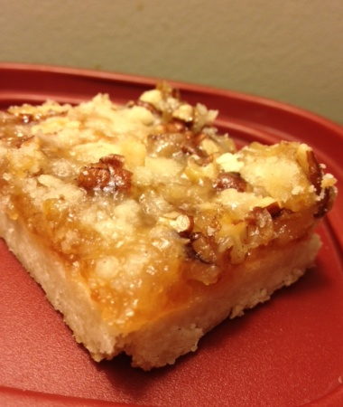 Apricot Pecan Bars ~ Buttery shortbread crust topped with apricot jam ...