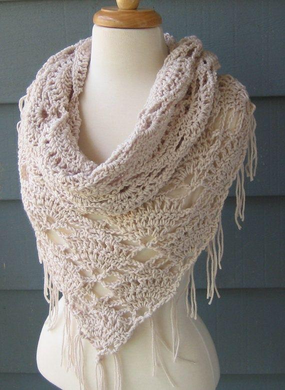 Crochet Wrap : crochet wrap scarf - inspiration only. No pattern