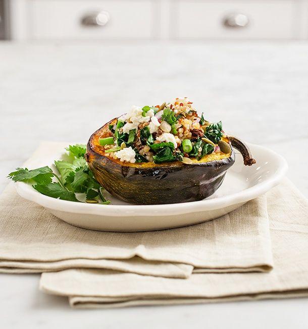 Quinoa Stuffed Acorn Squash | Cauliflower and Squash | Pinterest