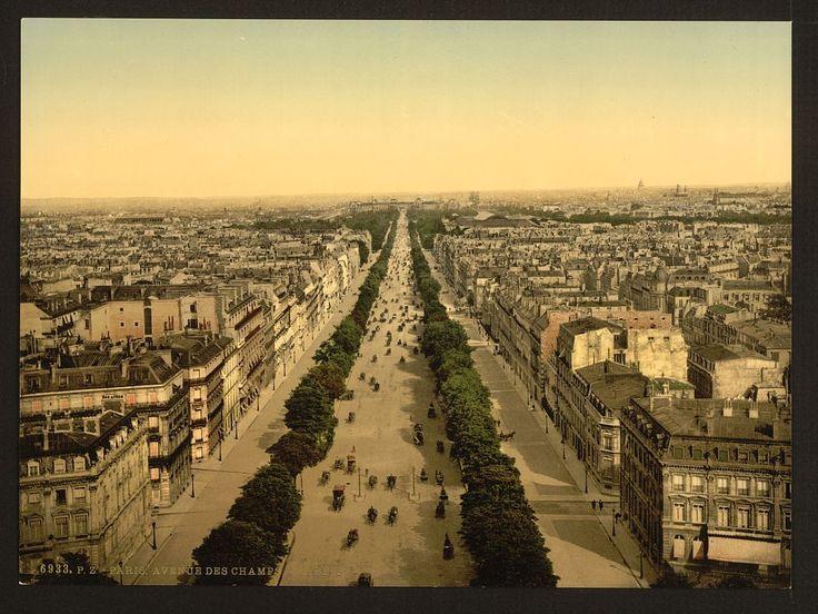 Vintage photo of Champs-Élysées in Paris, circa 1900