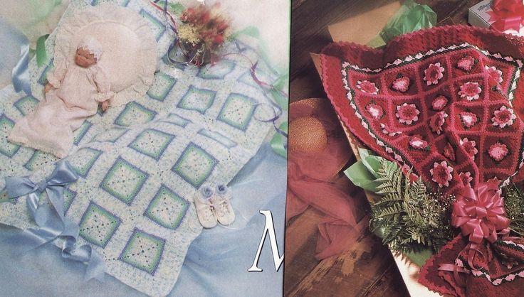 Crochet Pattern For Peppermint Afghan : Bouquet & Peppermint Squares Afghan Crochet Patterns