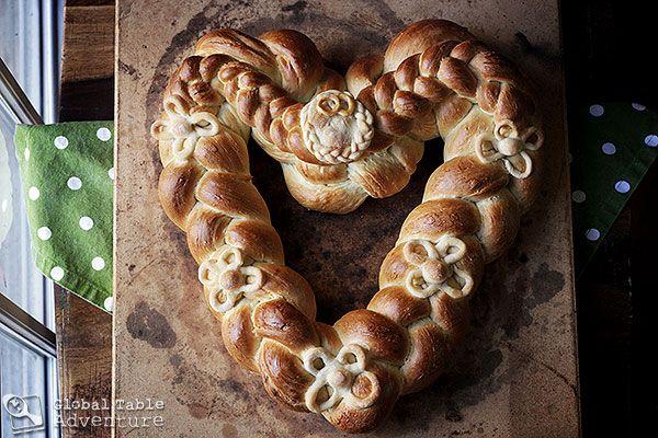 Recipe: Braided Heart Bread | Pleteno Srce | Global Table Adventure ...