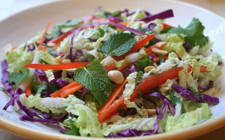 Asian - style cole slaw | Delicious Yummy Food | Pinterest