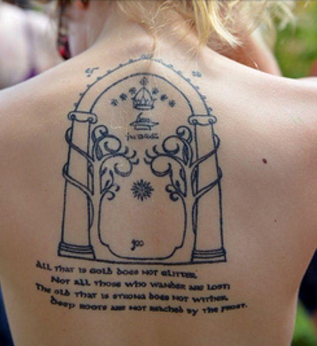 Moria Gate Tattoos