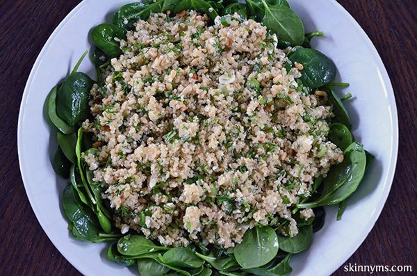 Spinach and Quinoa Salad with Feta and Dill--Have you tried a salad ...