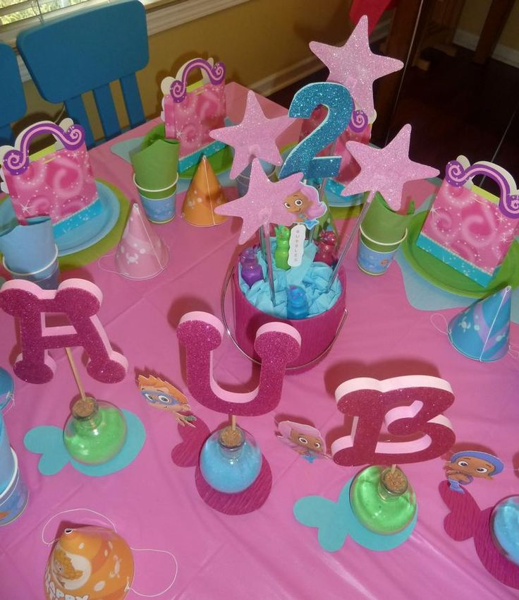 More bubble guppies party ideas girls 2nd birthday idea pinterest - Bubble guppie birthday ideas ...