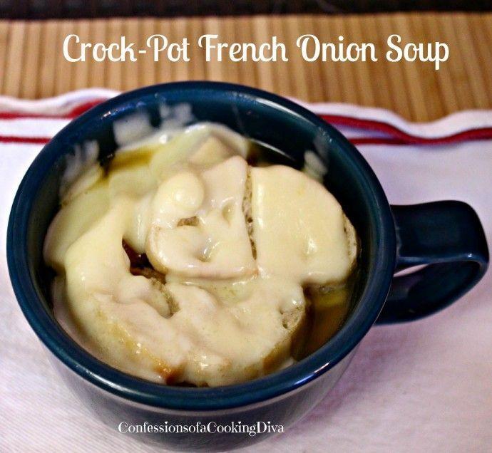 crockpot french onion soup. | Soup's On | Pinterest