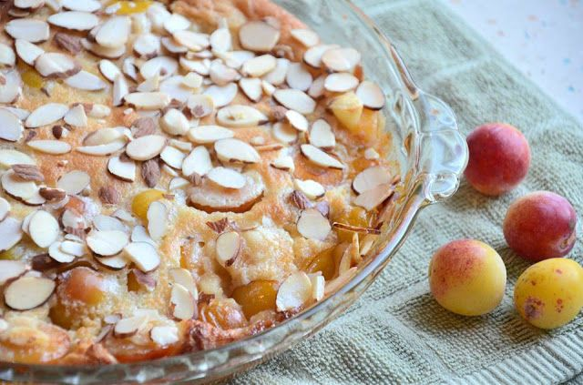 Mirabelle Plum and Brandy Clafoutis via No Wooden Spoons