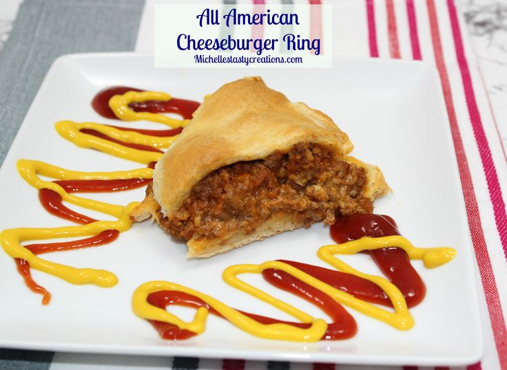 All American Cheeseburger Ring | Main/meat dishes | Pinterest