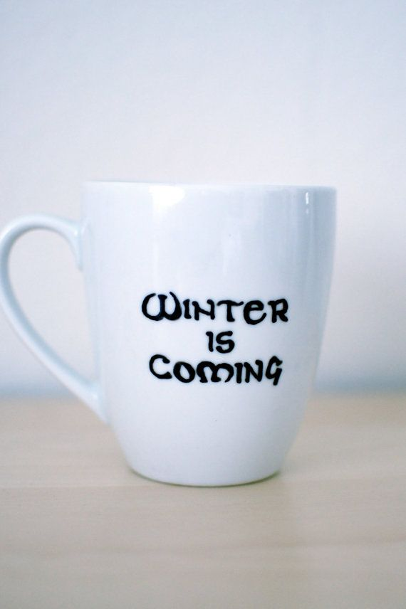 Game of Thrones Winter Is Coming Mug | 24 TV Show Coffee Mugs That Are Perfect For Both Your Coffee And TV Addiction