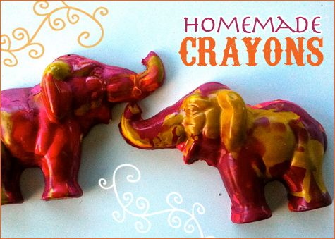 So cute! Elephant crayons.