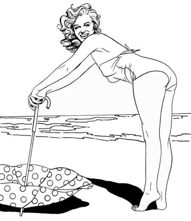 printable marilyn monroe coloring pages - photo#7