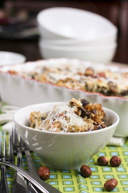 Mushroom Spinach and Brown Rice Casserole @Joshua Wright maybe?