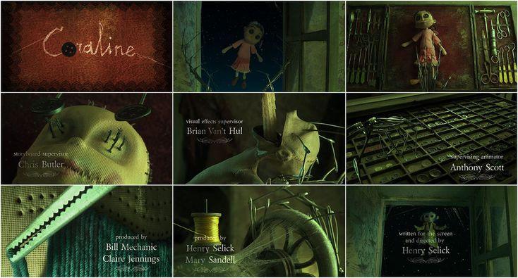 coraline opening credits openingend credits pinterest