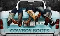 Cowboy Boots and pickup trucks